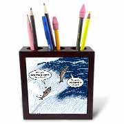 Salmon Spawning Advice Tile Pen Holder