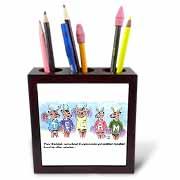 Kevin Edler Cartoon about Rudolphs Troubles for Christmas Tile Pen Holder