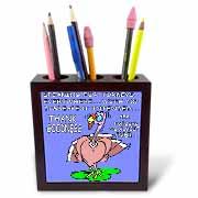 Ira Monroes Grateful Holiday Turkey Tile Pen Holder
