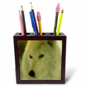 Wolf - Gentle Spirit - B Tile Pen Holder