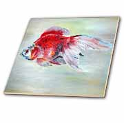 Fish Ryukin Goldfish Tile