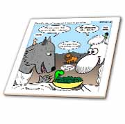 Isaiah 65 17 25 Cheese Tofu Bugers in Paradise Bible earth heaven paradise wolf sheep lamb lion Tile