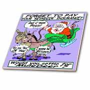 Ira Monroe - Santa and Mule Deer Tile