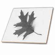 Flying Grey Leaf  Tile