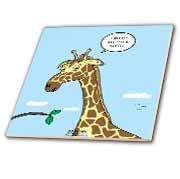 Giraffe Foraging Foibles - wanting a truffle Tile
