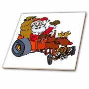 Nelson Deweys Reindeer Powered Santa Dragster Sleigh Tile