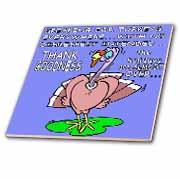 Ira Monroes Grateful Holiday Turkey Tile