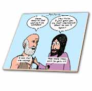 John 14 4 - 14 Philip and Jesus discuss what God is like Tile