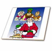 Larry Miller - Tribute to the Baby Jesus by the 3 Wisemen and Santa Tile