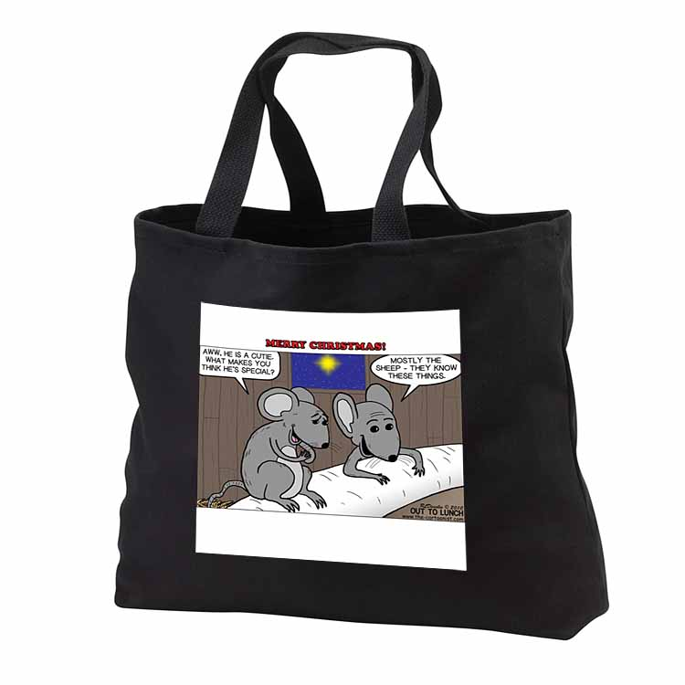 Rich Diesslin Mice Contemplate the Baby Jesus at Christmas Tote Bag
