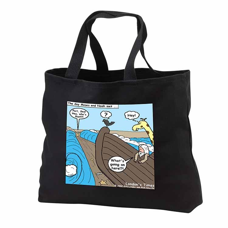 Noah Meets Moses  Tote Bag