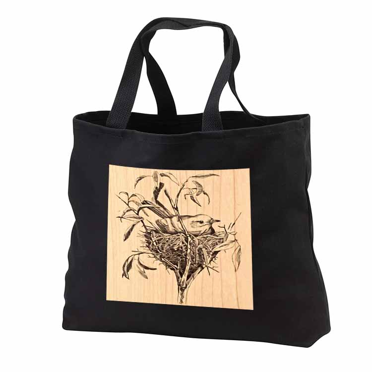 Small Bird in Nest Tote Bag