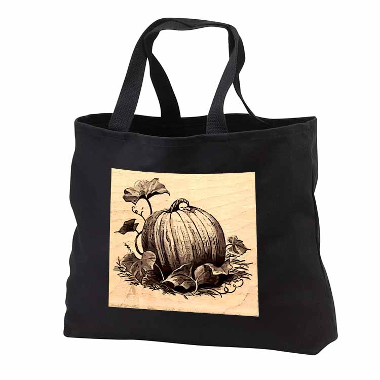 Pumpkin and Vines Tote Bag