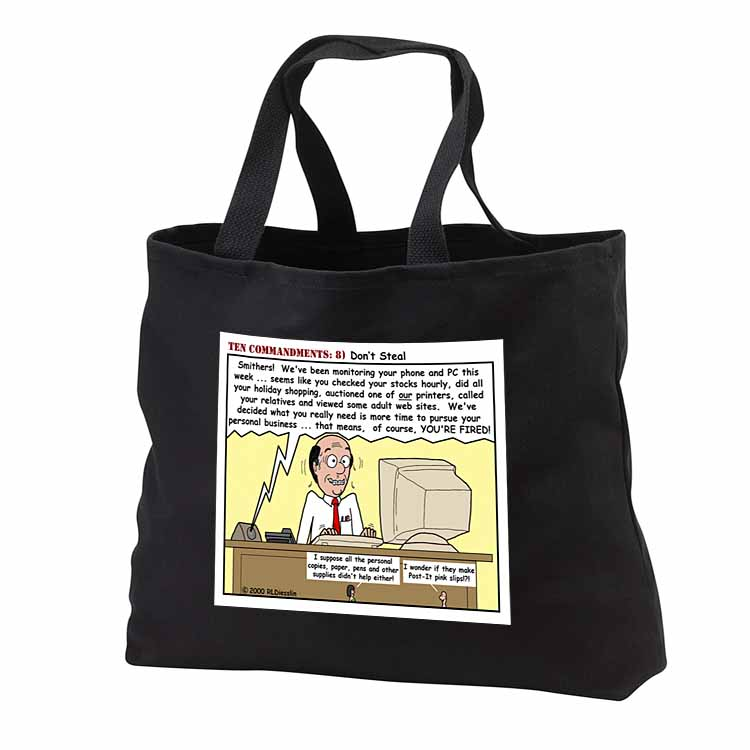Ten Commandments 8 Dont Steal Tote Bag