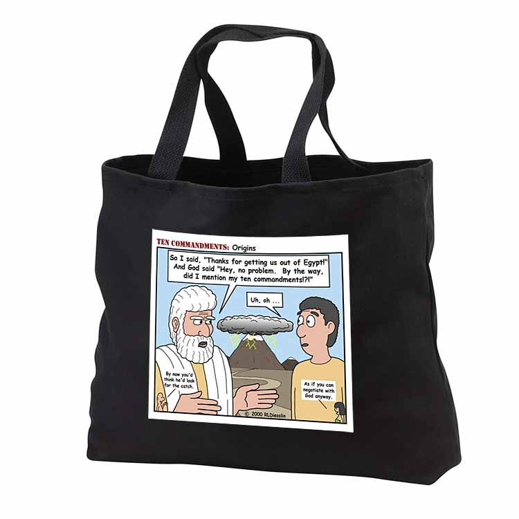 Ten Commandments, Origins Tote Bag