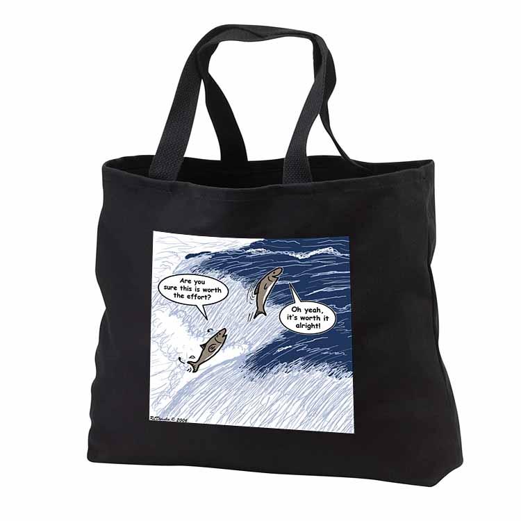 Salmon Spawning Advice Tote Bag
