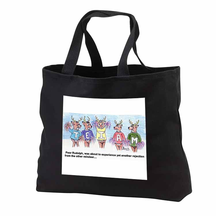Kevin Edler Cartoon about Rudolphs Troubles for Christmas Tote Bag
