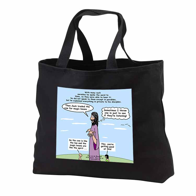 Mark 04-26-34 Jesus and the Beanstalk - Teaching Ad Lib Tote Bag