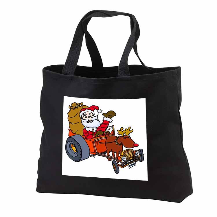 Nelson Deweys Reindeer Powered Santa Dragster Sleigh Tote Bag