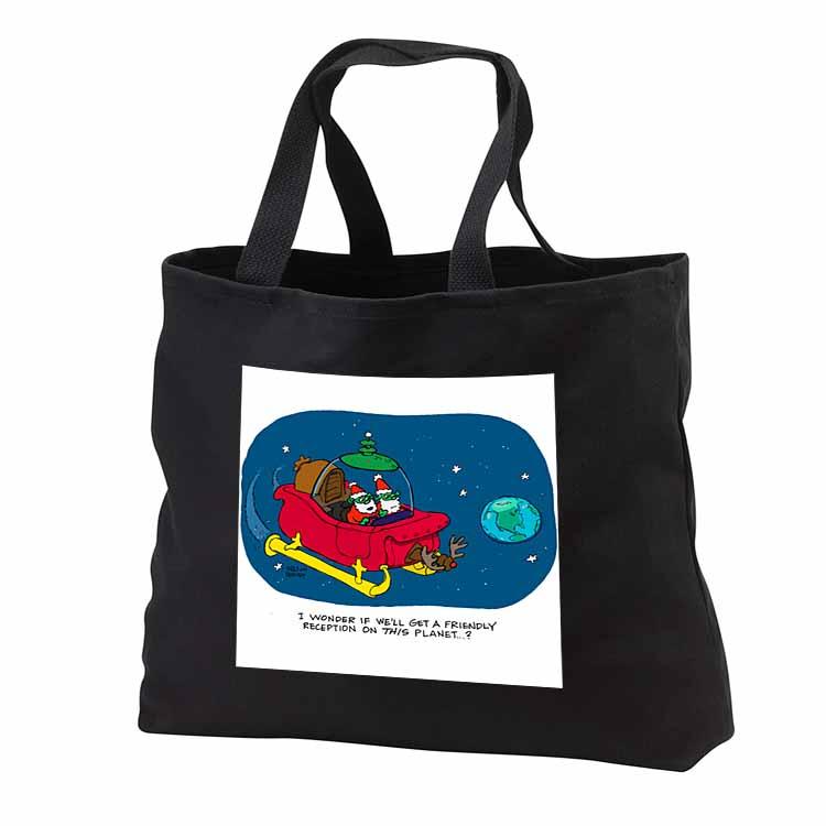 Nelson Dewey - Alien Craft Resembles Santas Sleigh Tote Bag