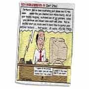 Ten Commandments 8 Dont Steal Towel