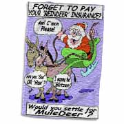 Ira Monroe - Santa and Mule Deer Towel