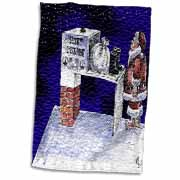 VAL - Santa Security Checkpoint Towel