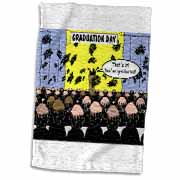 Graduation Day at the Hair Club for Men Towel