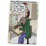 Pressures of Being a Cartoonist Towel