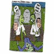 Halloween - Zombie Practical Jokes - Clinton and Nixon Masks Towel