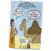Mark 10-17-31 Stupid Animal Tricks - Camel through the Eye of a Needle Parable Towel