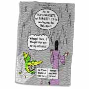 John 16 12 - 15 Jesus discusses sending paraclete which confuses a parakeet Towel