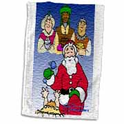 Larry Miller - Tribute to the Baby Jesus by the 3 Wisemen and Santa Towel