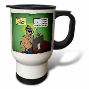 Invisible Man Internet Dating and Web Catfishing Travel Mug