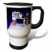 VAL - Santa Security Checkpoint Travel Mug