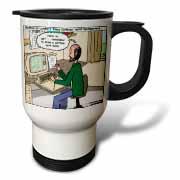 Pressures of Being a Cartoonist Travel Mug