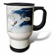 Salmon Spawning Advice Travel Mug