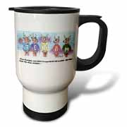 Kevin Edler Cartoon about Rudolphs Troubles for Christmas Travel Mug