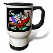 Ira Monroe about Santas E-Mail for Christmas Travel Mug