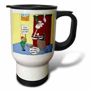 Dale Hunt - Santa Contributes to the Bad Economy Travel Mug