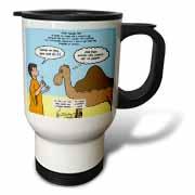 Mark 10-17-31 Stupid Animal Tricks - Camel through the Eye of a Needle Parable Travel Mug