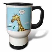 Giraffe Foraging Foibles - wanting a truffle Travel Mug