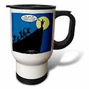 Luke 4-21-30 - A Cliffhanger Travel Mug