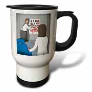 Eye Chart Word Search - Visit to the Eye Doctor Travel Mug