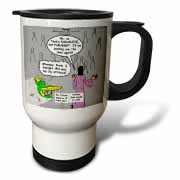 John 16 12 - 15 Jesus discusses sending paraclete which confuses a parakeet Travel Mug