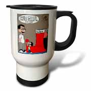 Sean Boley - Clever Child with very Large Christmas Stocking Travel Mug