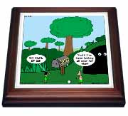 Job 28 20 Looking for Wisdom in All the Wrong Places Bible wisdom golf course mailbox ball Trivet