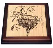 Small Bird in Nest Trivet