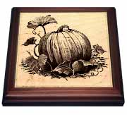 Pumpkin and Vines Trivet