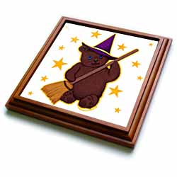 Witchy Bear Pagan Kids Witch Cute Teddy Bear Trivet